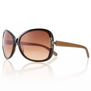 Tory Burch Women's 'TY 7022' Olive Khaki/ Brown Gradient Oval Sunglasses
