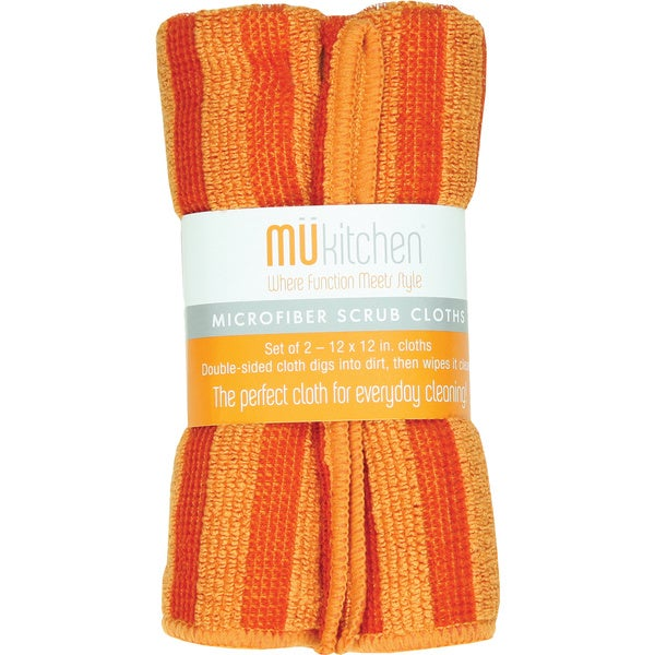 MUkitchen Orange Scrub Cloth (Set of 2)