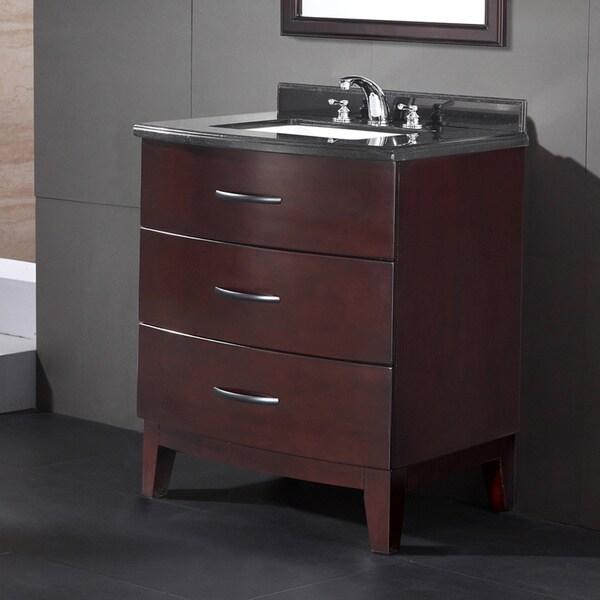 Ove Decors Tobo 30 Inch Single Sink Bathroom Vanity With Granite Top 16142252