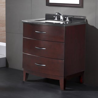 Ove Decors Tobo 30-inch Black Granite Top and Undermount Basin Vanity