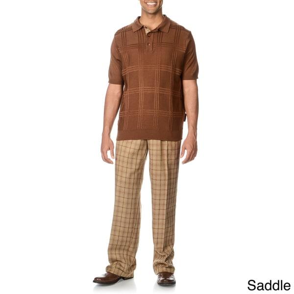 Steve Harvey Men's 2-piece Knit Polo and Pant Set