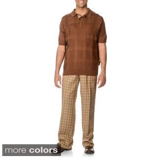 Steve Harvey Men's 2-piece Knit Polo and Pant Set