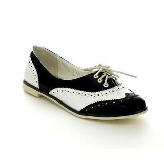 Bumper Women's Eugenia-02 Round Toe Lace-up Oxford