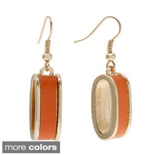 Alexa Starr Leather Inlay Dangle Earrings