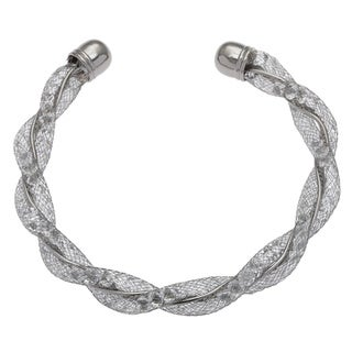 Alexa Starr Glass Mesh Twisted Cuff Bracelet
