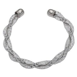 Alexa Starr Glass Mesh Twisted Cuff Bracelet