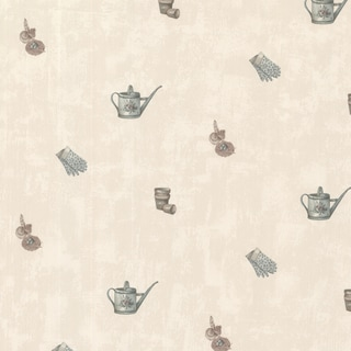 Athena Champagne Kettle and Glove Toss Wallpaper