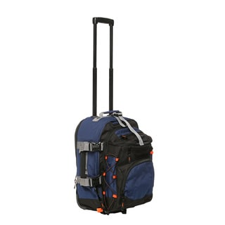 High Sierra ATG3 Nightfall /Black 21-inch Drop-bottom Wheeled Upright Duffel Bag
