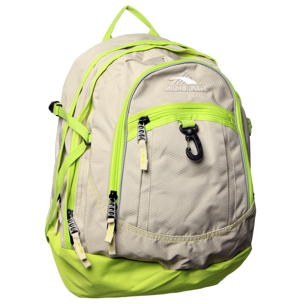 High Sierra Almond Chartreuse Fatboy Backpack