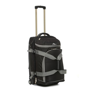 High Sierra ATG3 Black/Ash 26-inch Drop-Bottom Wheeled Upright Duffel Bag