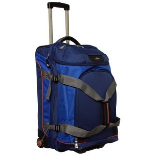 High Sierra Vapor Blue 26-inch Drop-bottom Wheeled Upright Duffel Bag