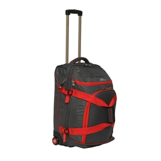 High Sierra ATG3 Charcoal/ Red 26-inch Drop-bottom Wheeled Upright Duffel Bag