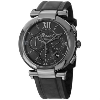 Chopard Men's 388549-3007 'Imperiale' Black Dial Black Rubber Strap Chronograph Watch