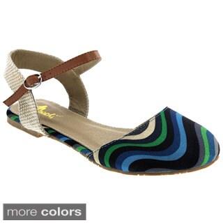 Machi Women's Faith-10 Closed Toe Buckle Ankle Strap Multi Color Sandal
