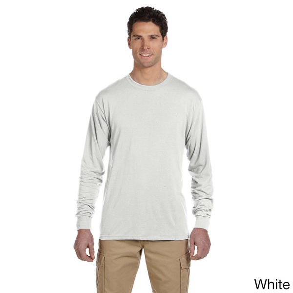 jerzees men 39 s 100 percent polyester long sleeve t shirt