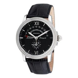 Stuhrling Original Men's Saturnalia Chairman Automatic Leather Strap Watch