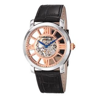 Stuhrling Original Men's Windchester Terrace Mechanical Leather Strap Watch