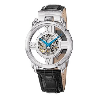 Stuhrling Original Men's Windchester Cross Automatic Leather Strap Watch