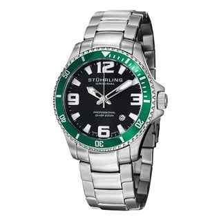 Stuhrling Original Men's Regetta Champion Swiss Quarts Stainless Steel Link Bracelet Watch