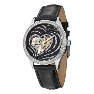 Stuhrling Original Women's Temptation Automatic Leather Strap Watch