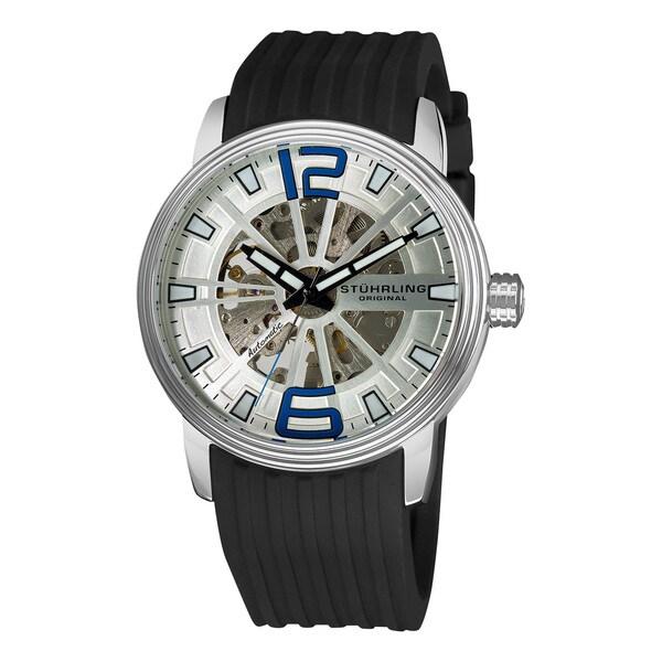 Stuhrling Original Mens Delphi Achilles Automatic Silicon Rubber Strap Watch