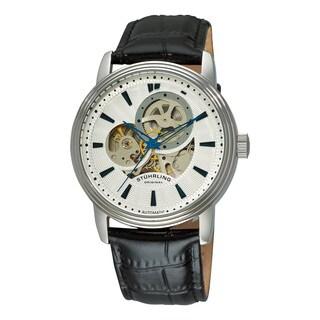 Stuhrling Original Men's Delphi Acheron Automatic Leather Strap Watch