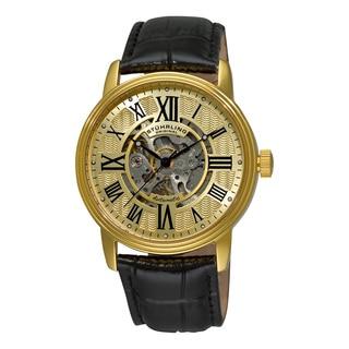 Stuhrling Original Men's Delphi Venezia Automatic Leather Strap Watch