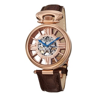 Stuhrling Original Men's Roman Emperor Automatic Leather Strap Watch