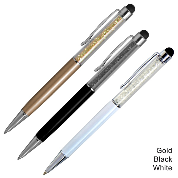 MeeCase Crystal Stylus Retractable Ballpoint Pen (Pack of 3)