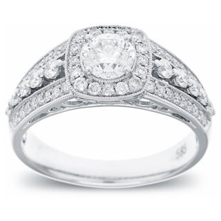 14k White Gold 0.99ct TDW Diamond Engagement Ring (G-H, SI2-I1)