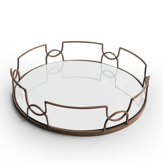 Rust 15-inch in Diameter Mirror Tray