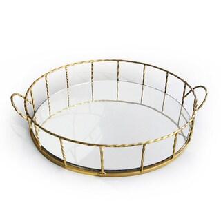 Gold 16-inch Round Tray
