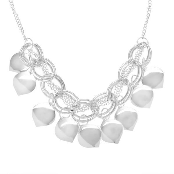 Silver Base Metal Finishing Touch High Polished Necklace