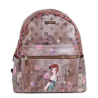Nicole Lee Tina Print Quinn 20-inch Fashion Backpack