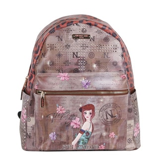 Nicole Lee Tina Print Quinn 20-inch Fashion Backpack