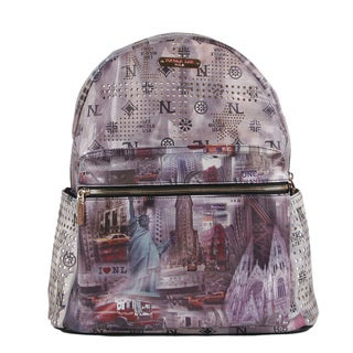 Nicole Lee New York Print Quinn 20-inch Fashion Backpack