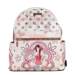Nicole Lee Marina Print Quinn 20-inch Fashion Backpack
