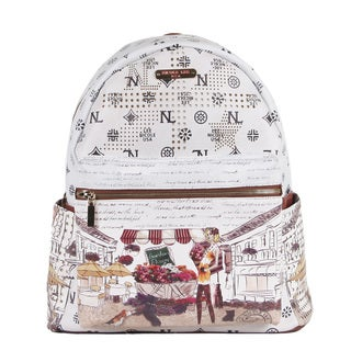Nicole Lee Garden Flower Print Quinn 20-inch Fashion Backpack