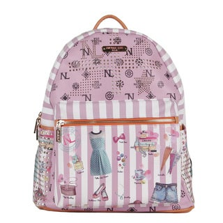 Nicole Lee Dollhouse Print Quinn 20-inch Fashion Backpack