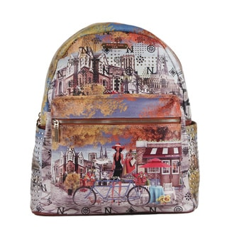 Nicole Lee Bicycle Print Quinn 20-inch Fashion Backpack