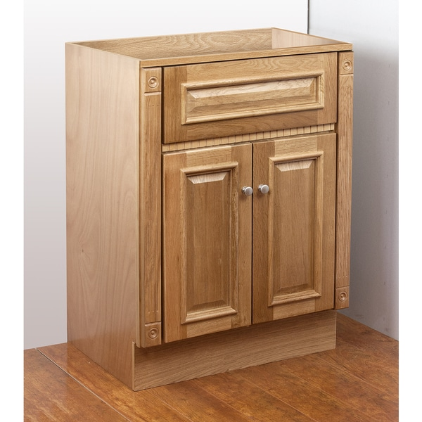 heritage oak 30x18 vanity cabinet bathroom home modern new sink top wood ebay