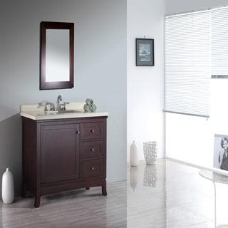 Valega 42-inch Tobacco Brown Single Sink Bathroom Vanity