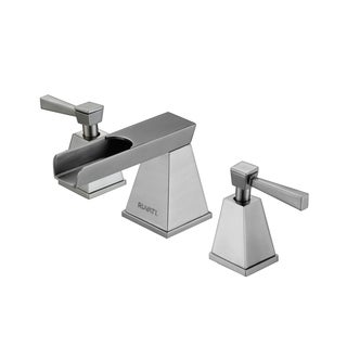 Waterfall 8-15-inch Widespread Brushed Nickel Bathroom Two-handle Faucet