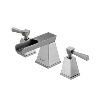 Waterfall 8-15-inch Widespread Brushed Nickel Bathroom Two-handle Faucet