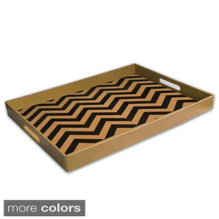 Zig-zag Design Serving Tray (19 x 14 inches)