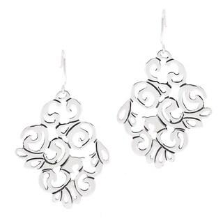 .925 Sterling Silver Scroll Work Earrings