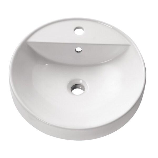 Avanity Round Semi Recessed 18-inch Sink