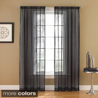 Links Sheer Mesh 84-inch Rod Pocket Curtain Panel