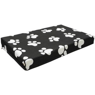 GoPetClub Black/White Orthopedic Memory Foam Pet Bed