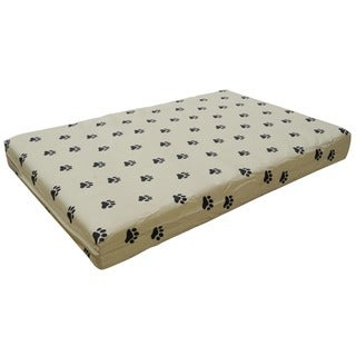 Go Pet Club Paw Print Orthopedic Memory Foam Pet Bed